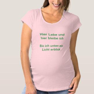 TShirt mit Babyspruch Schwangerschaft