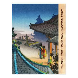 Tsuchiya Koitsu Miidera Tempel-Abendsschienbein Postkarte
