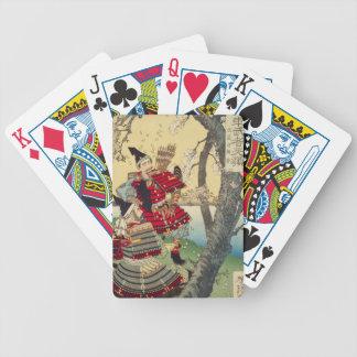 Tsukioka Yoshitoshi - Yoshitsune und Benkei Bicycle Spielkarten