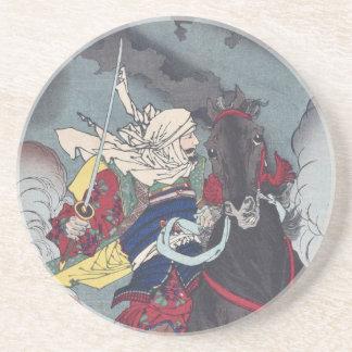 Tsukioka Yoshitoshis Kenshin Sandstein Untersetzer