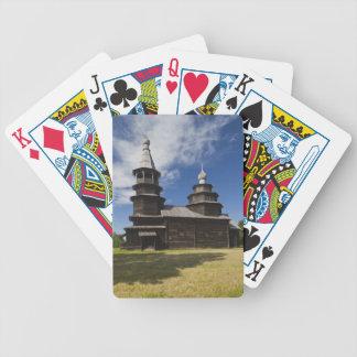 Ttraditional hölzerne Russisch-Orthodoxe Kirche Pokerkarten
