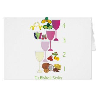 Tu Bishvat Seder Grußkarte
