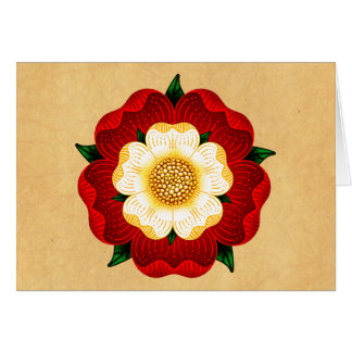 Tudor Rose Grußkarte
