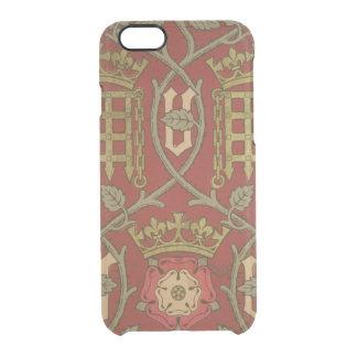 """""""Tudor Rose"""", Wiedergabetapete entwarf durch S Durchsichtige iPhone 6/6S Hülle"""