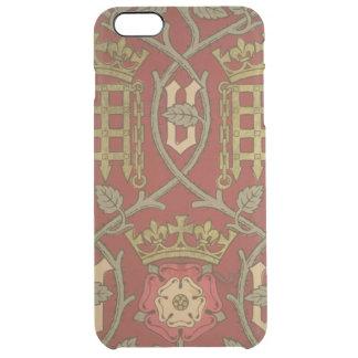 """""""Tudor Rose"""", Wiedergabetapete entwarf durch S Durchsichtige iPhone 6 Plus Hülle"""