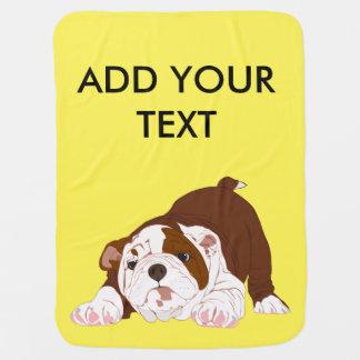 Tuff-Welpen-spielerischer Bulldoggen-Welpe Babydecke