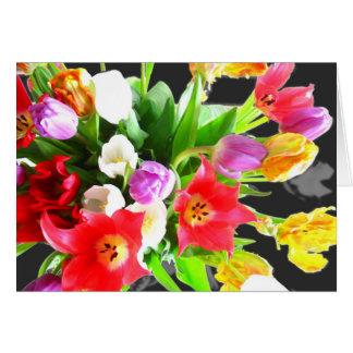 Tulpe-Blumen-Blumenstrauß Grußkarte