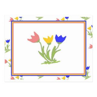 Tulpe-Trio Postkarte