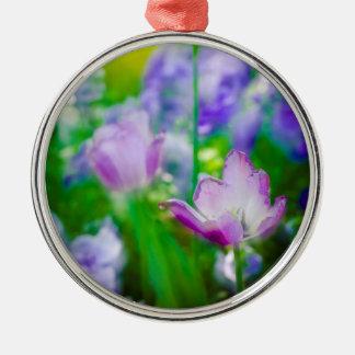 Tulpegarten, Giverny, Frankreich Silbernes Ornament