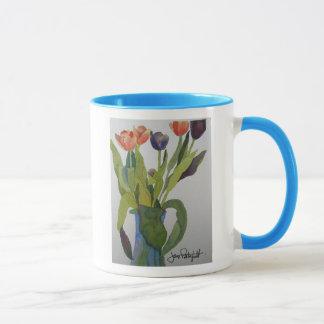 Tulpen in der Vasen-Tasse Tasse