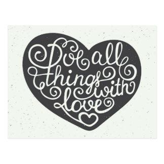 Tun Sie alle Sachen mit Liebe Postkarte