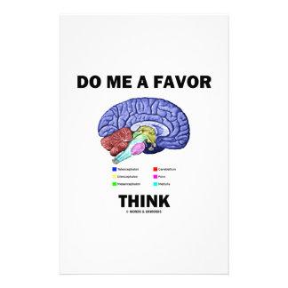 Tun Sie mich, den eine Bevorzugung denken (Gehirn- Büropapiere