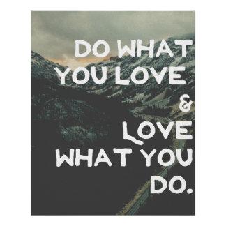 Tun Sie, was Sie Liebe Perfektes Poster
