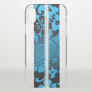 Tunnel-Strand-hawaiisches Hibiskus-Surfbrett-Blau iPhone X Hülle