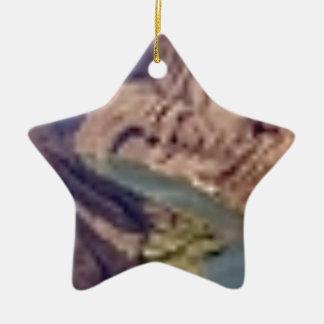 Tunnelblick Keramik Stern-Ornament