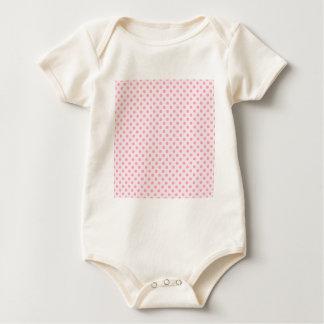 Tupfen - Gartennelken-Rosa auf blassem - Rosa Baby Strampler