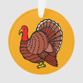 Türkeiseitenprofil auf goldenem Gelb