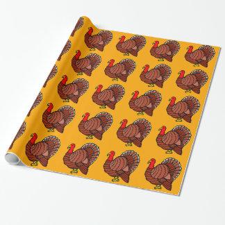 Türkeiseitenprofil auf goldenem Gelb Einpackpapier