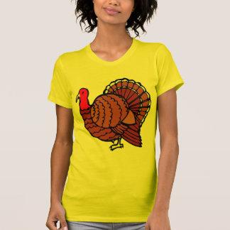Türkeiseitenprofil auf goldenem Gelb Shirts