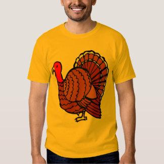 Türkeiseitenprofil auf goldenem Gelb Tshirt