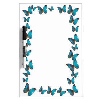 Türkis-Blau-Regenwald-Schmetterlings-Grenze Memoboards