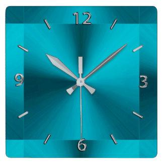 Türkis-blaues Grün-metallische Uhr