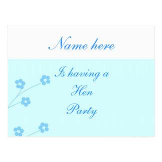 Türkis-Blumen-Henne-Party UAWG Karten Postkarte