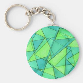 Türkis-Dreieck-Muster Schlüsselanhänger