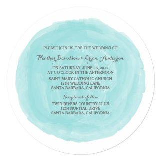 Shop Zazzle's selection of watercolor wedding invitations for your special day!