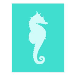 Türkis-Seepferd Postkarte