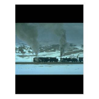 Türkische Dampf-Power, die ein freight_Steam Postkarten