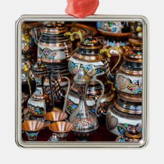 Türkische Teekannen für Verkauf in Istanbul die Silbernes Ornament
