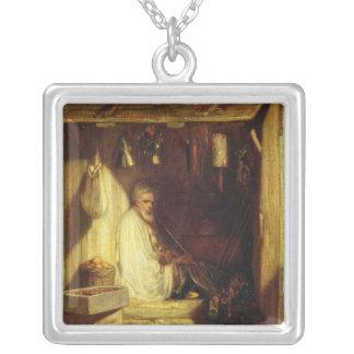 Türkisches Handelsrauchen in seinem Geschäft, 1844 Halskette Mit Quadratischem Anhänger