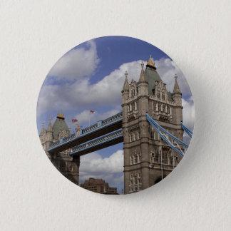 Turm-Brücke London, England Runder Button 5,7 Cm