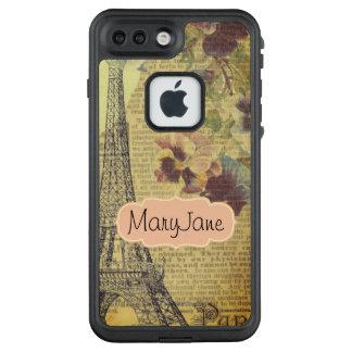 Turm-Vintager Aufkleber Paris Eiffel LifeProof FRÄ' iPhone 7 Plus Hülle