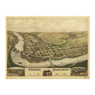Turners-Fälle Massachusetts (1877) Leinwanddruck