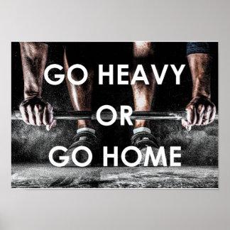 Turnhalle belastet Trainings-Fitness-motivierend Poster