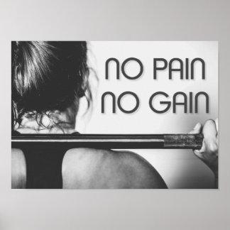 Turnhallen-Bodybuildings-Fitness-motivierend Poster