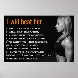 Turnhallen-Frau Muscles | Poster