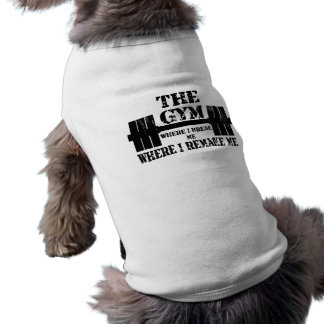 Turnhallen-Motivation Ärmelfreies Hunde-Shirt