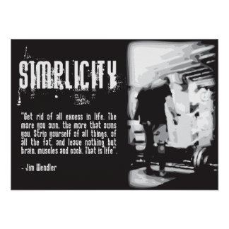 Turnhallen-Plakat - Einfachheit - Zitat Jims Poster