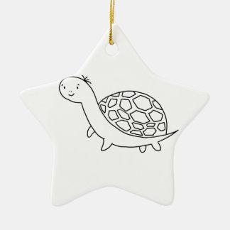 TURTLE/TORTOISE Shirts, Zusätze, Geschenke Keramik Stern-Ornament