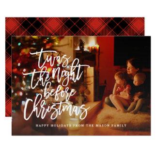 'Twas die Nacht vor Weihnachtsfeiertags-Foto 12,7 X 17,8 Cm Einladungskarte