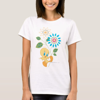 Tweety Blumen-Fliege T-Shirt