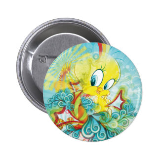 Tweety in der blauen Welle Runder Button 5,1 Cm