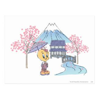 Tweety Japan Postkarte