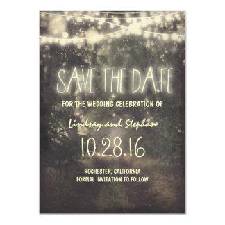 Twinkle beleuchtet rustikale Save the Date Karten 11,4 X 15,9 Cm Einladungskarte