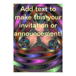 Twisty Chrom-Farbe abstrakt 12,7 X 17,8 Cm Einladungskarte