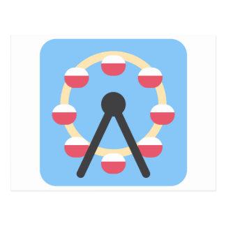 Twitter Emoji - Ferris Wheel Postkarte