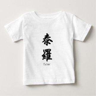 Tyler übersetzte in japanische Kanjisymbole Baby T-shirt
